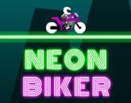 Neonowy motocyklista