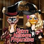 Siostry przygotowują się na Halloween