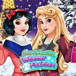 Aurora i Królewna Śnieżka zimą