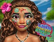 Makijaż egzotycznej księżniczki