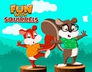 Zabawa z wiewiórkami